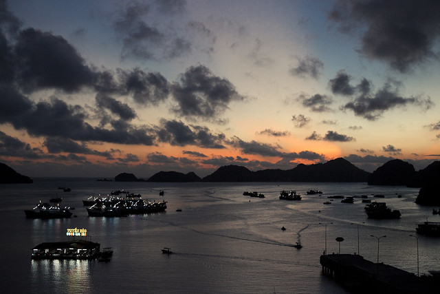 Cat Ba bay sunset