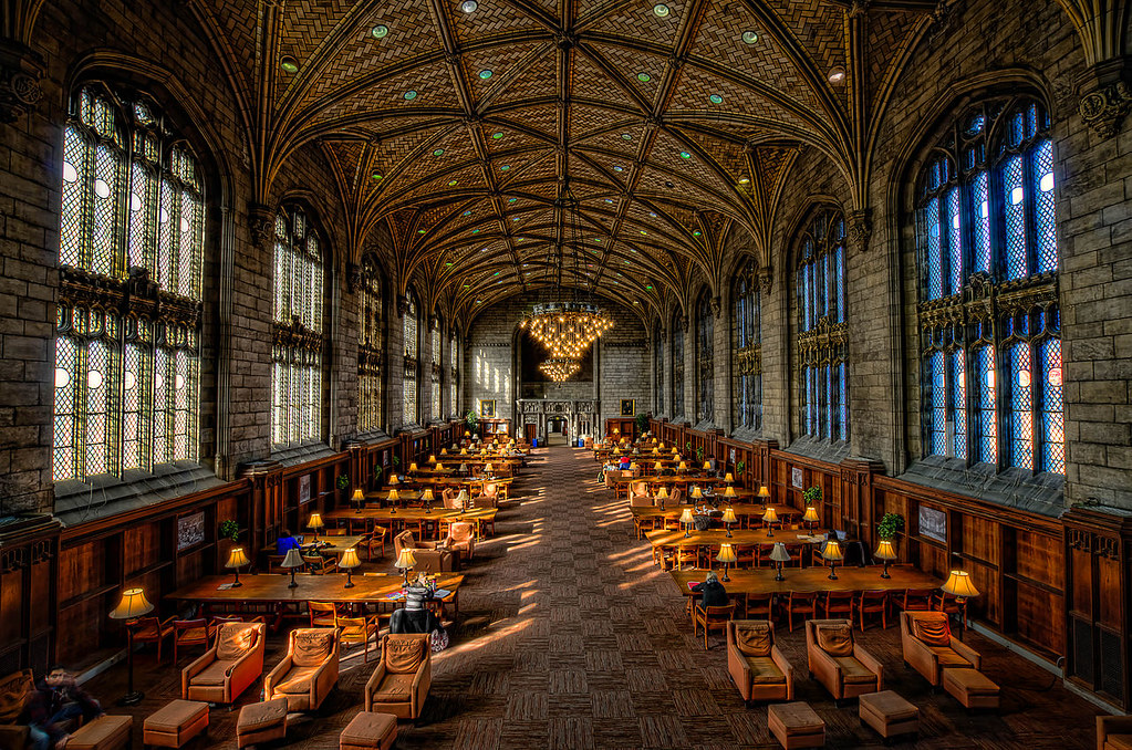 Interior of Harper Memorial Library at University of Chicago. Image credit Rick Seidel.