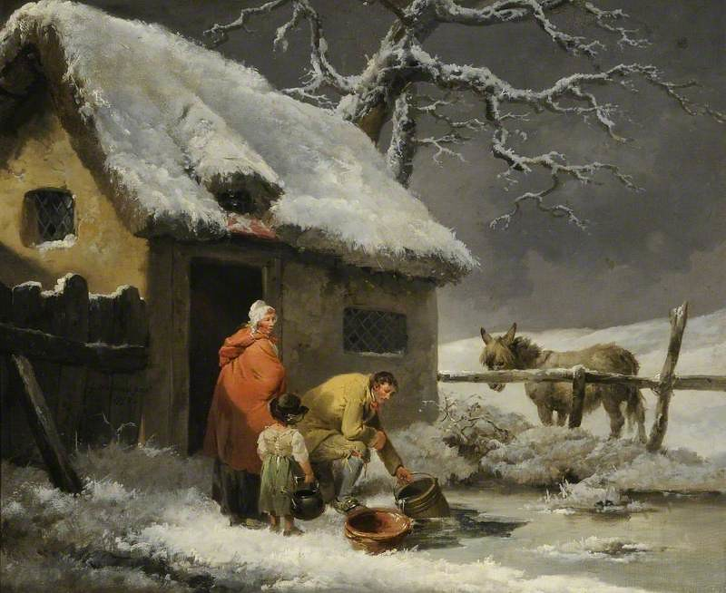 Breaking the Ice by George Morland, 1792
