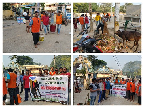 Massive awareness and mega cleaning program at Lokannath Temple Puri