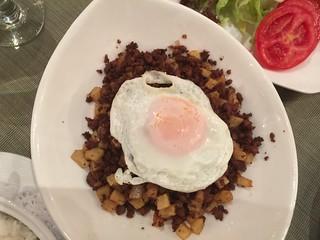 Plato de Minchi del Restaurante Litoral (Macao)