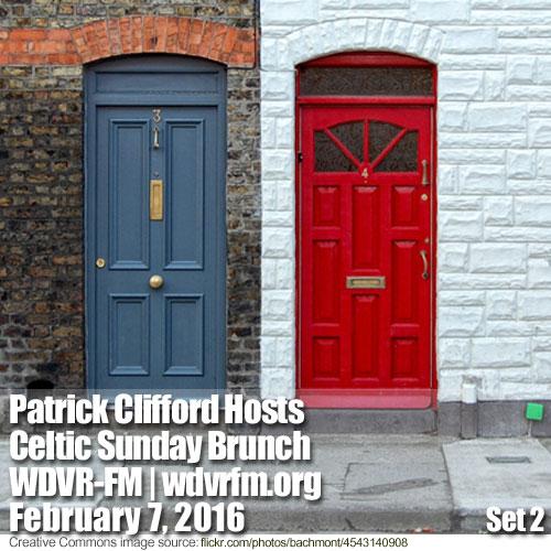 Patrick Clifford Hosts Celtic Sunday Brunch on WDVR-FM,  February 7, 2016