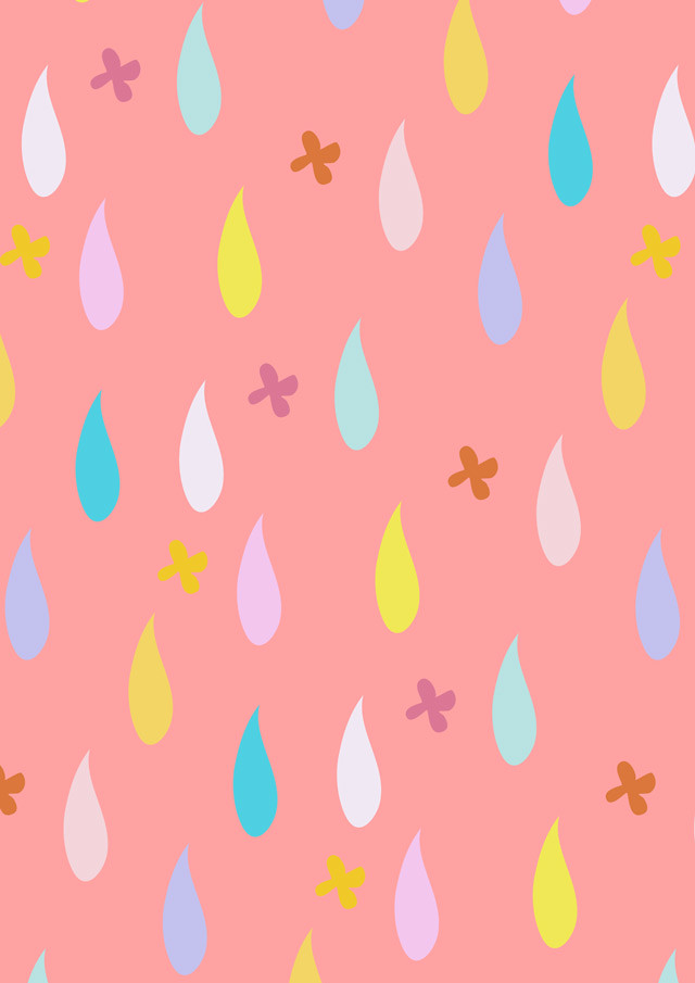 pink raindrop pattern by laura redburn » cardboardcities - creative lifestyle blog
