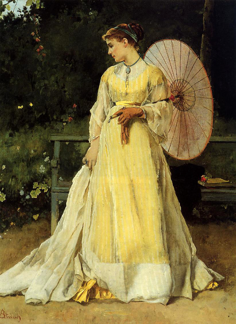 In the Country by Alfred Stevens, 1823-1906