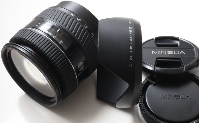 Minolta AF 24-105 mm F/3.5-4.5 D 含兩枚非球面鏡片 全玻璃早期AF Zoom  A7專用