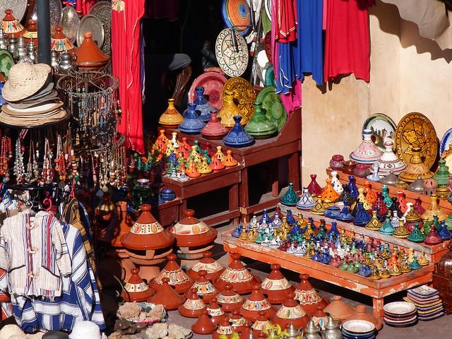 Puestos de la Plaza Jemaa el-Fna de Marrakech