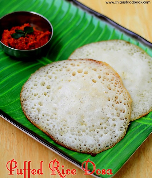 Puffed rice dosa recipe
