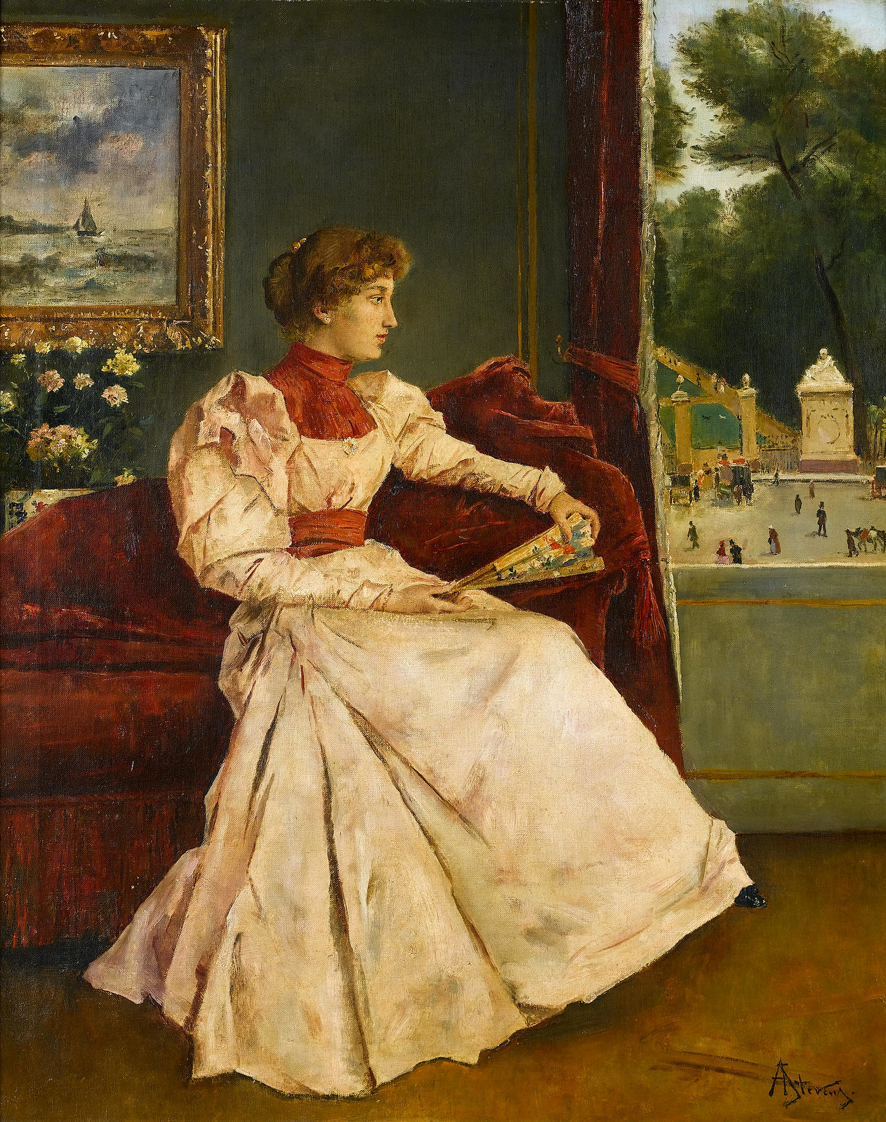 At Home by Alfred Stevens, 1823-1906
