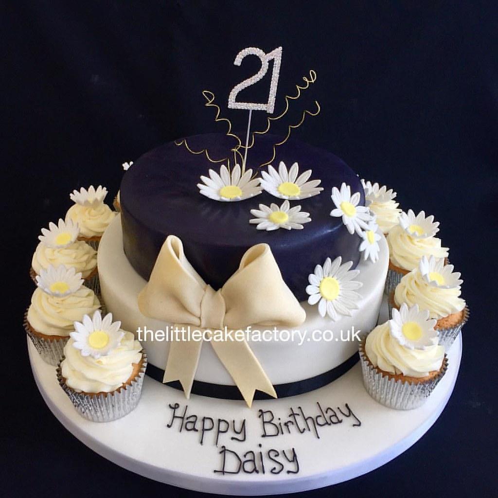 Daisy Birthday Cake 21 21st 21stbirthday Celebration Flickr