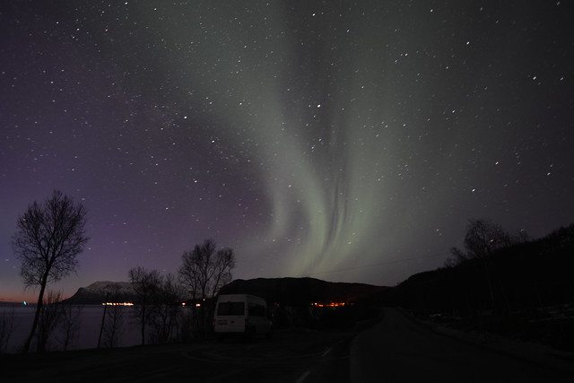 Auroras boreales en Laponia Noruega