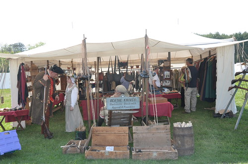 Photo of seller's booth at Fort Frederick 18th Century Market Fair
