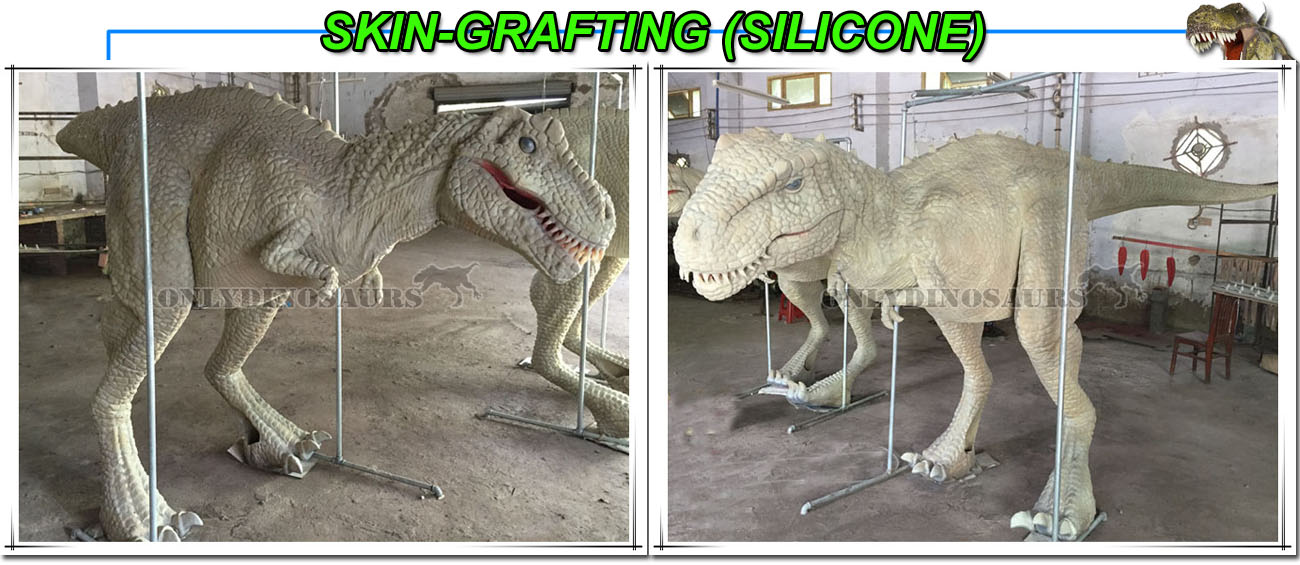 Skin-Grafting for T-Rex Costume