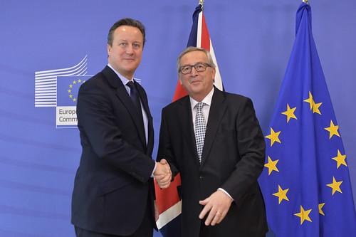 David Cameron met President Junker