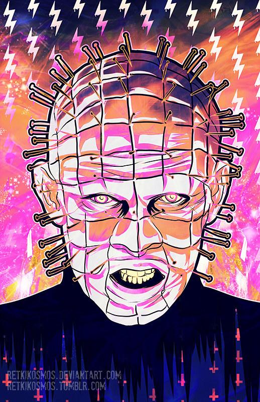 Neon Horror - Pinhead - Hellraiser by RetkiKosmos