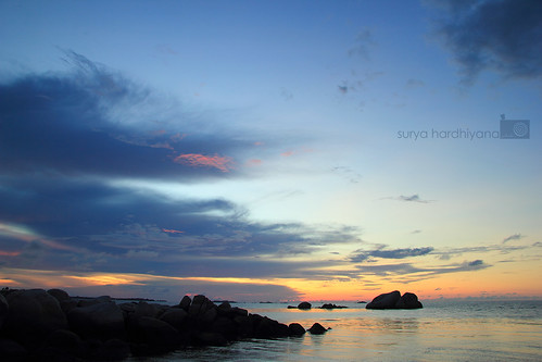 Senja di Pantai Tanjung Tinggi, Belitung