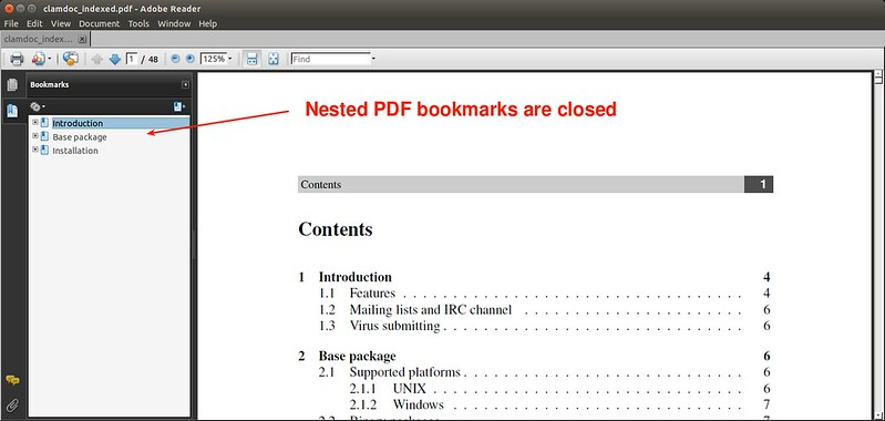 How to add bookmarks to a PDF document on Linux - Ask Xmodulo