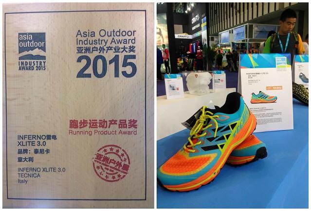 Το Inferno X-Lite 3.0 κέρδισε το βραβείο καλύτερα κατασκευασμένου παπουτσιού για ορεινό τρέξιμο στην έκθεση Asia Outdoor Industry 2015!