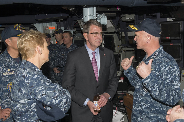 SECDEF with VADM Rowden
