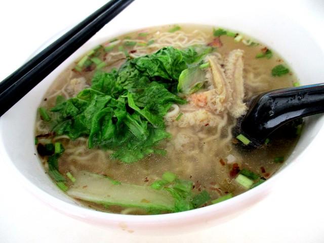 Beef tripe noodles, soup 1