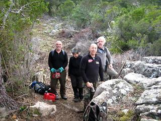 La fine équipe des travailleurs du PR6 : Laetitia, Tony, Claude, Michel (et Jean-Jo)