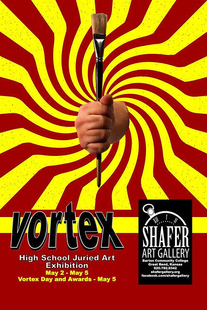 Vortex Day poster for High School Juried Art exhibition May 2-5