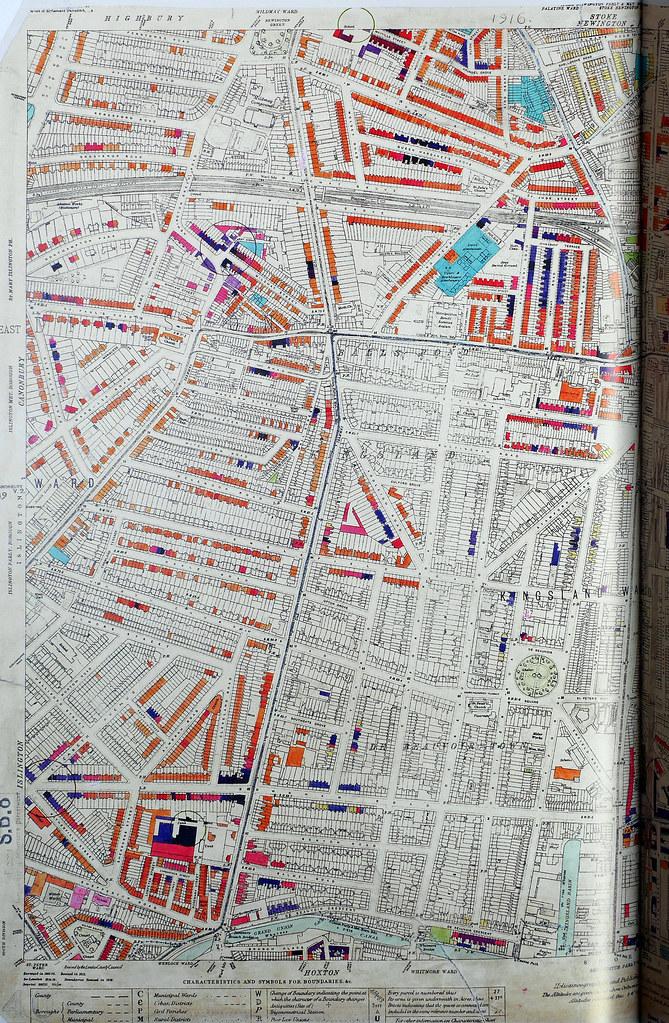 London County Council Bomb Damage Map Islingto Flickr - London map 1945
