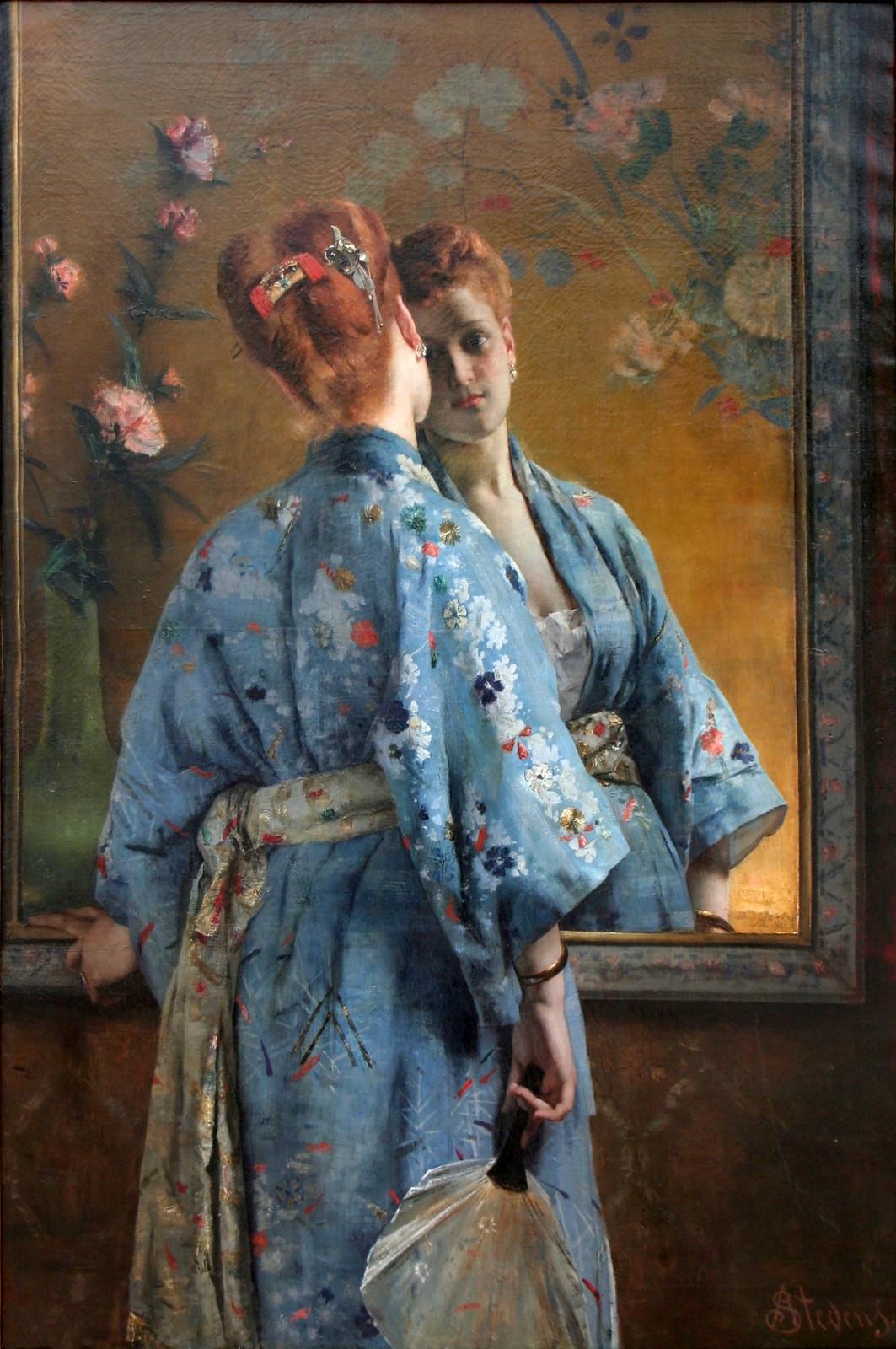 La Parisienne Japonaise by Alfred Stevens, 1871