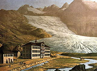 The Rhone Glacier, Switzerland, in 1870