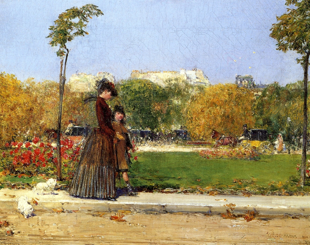 In the Park, Paris by Childe Hassam, 1889