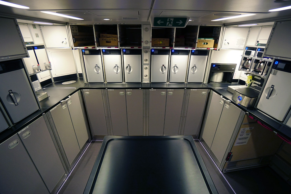 Spacious galley on the A350 XWB | during Singapore ...