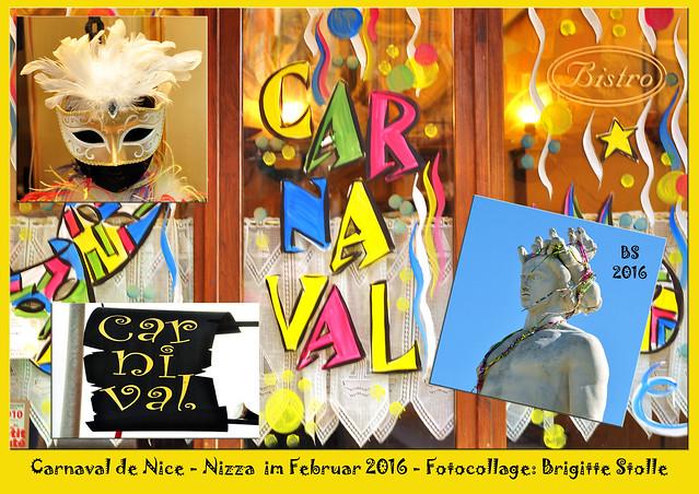 Karneval in Nizza Carnaval de Nice Februar 2016 Fotocollage Brigitte Stolle Mannheim