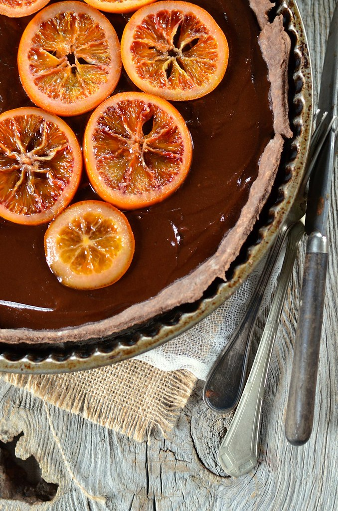 Tarte au chocolat et à l'orange sanguine