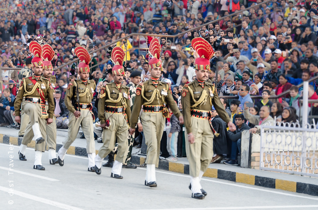 Wagah Border Parade Indian Soilders
