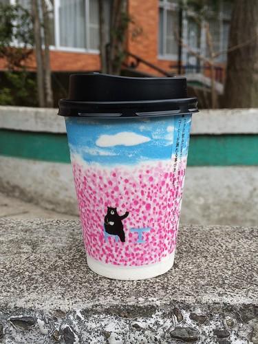 ローソンのマチカフェコーヒーのクマさんカップがかわいい 2016.3.12