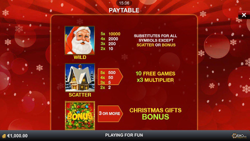 free Santa Surprise Mobile slot payout
