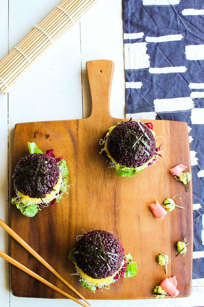 Black sushi burger {vegan - sans gluten}
