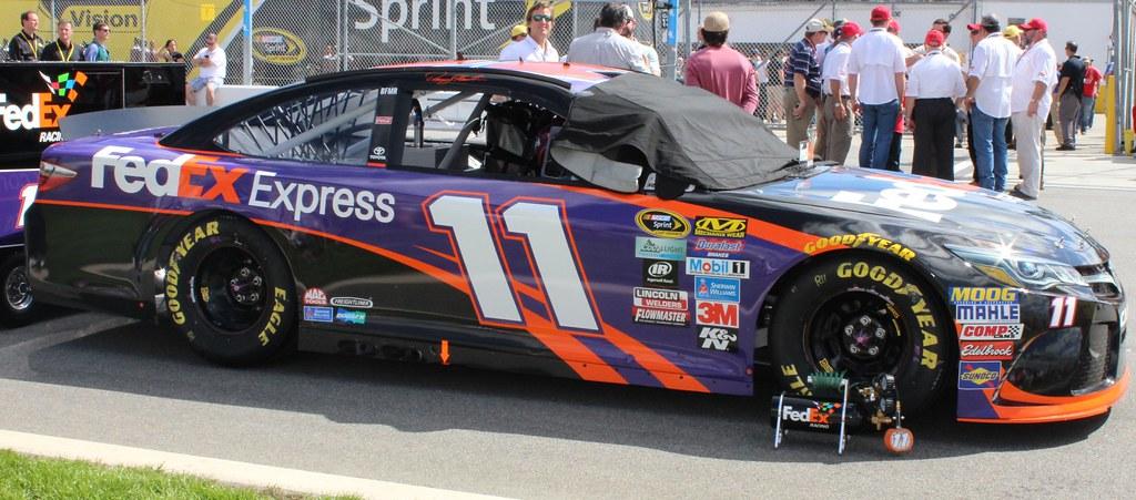2016 Daytona 500 Winning Car   Denny Hamlin's car sitting ...