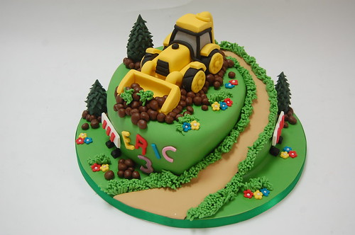 Birthday Cake For Boy 3 Years Old ~ Eric s digger cake beautiful birthday cakes