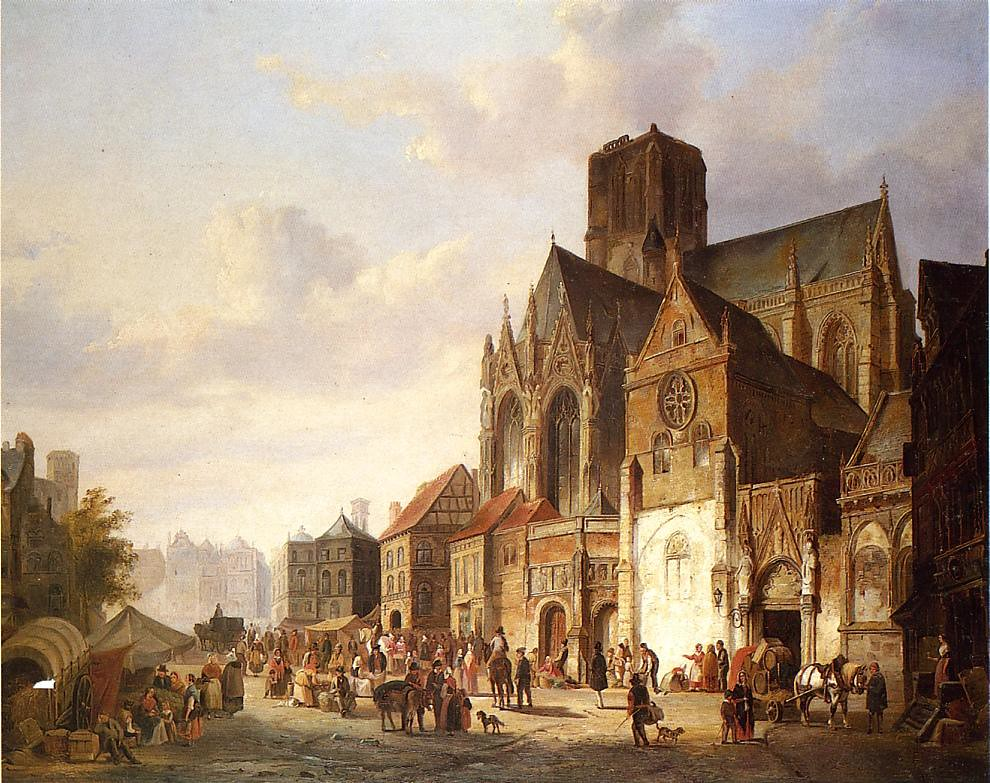 View of Montelspran by Cornelis Springer