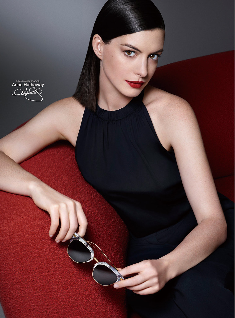 Anne Hathaway for Bolon Eyewear Campaign | Photographed by ... энн хэтэуэй