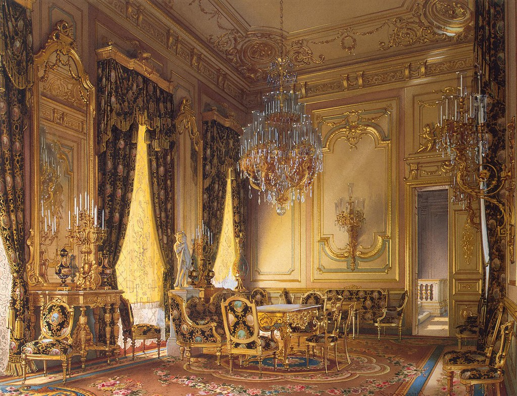 The mansion of von Stieglitz: The Golden Drawing-Room. 1870