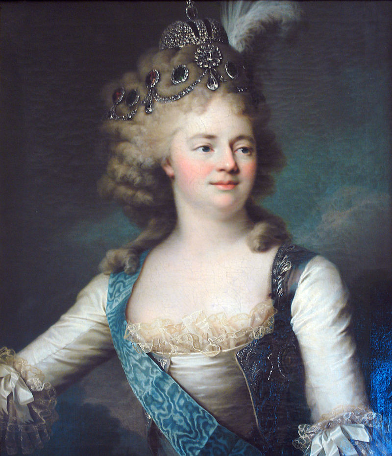 Portrait of Grand Duchess Marie Fyodorovna (1759-1828). Late 1790s.
