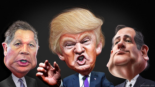 Republican Primary Final Three 2016 - Caricatures