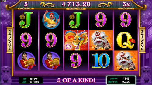 Dragon Dance Free Spins 5 of A Kind Feature