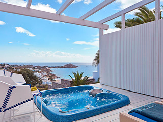 True Blue Jacuzzi + White Bliss Jacuzzi