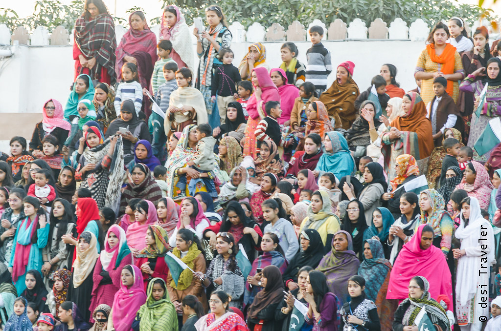 Pakistani Women watching Wagah Border Ceremony