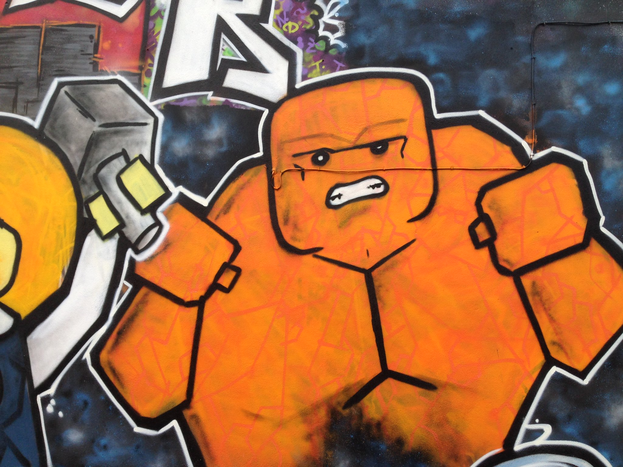 Marvel Lego The Thing street art, Blackpool, by Dominic Carlyle