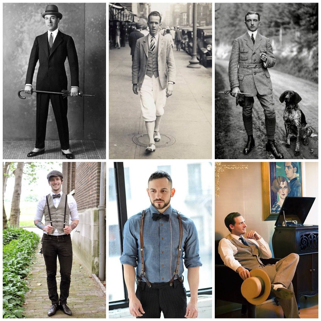 стилизация мужской моды 20-х
