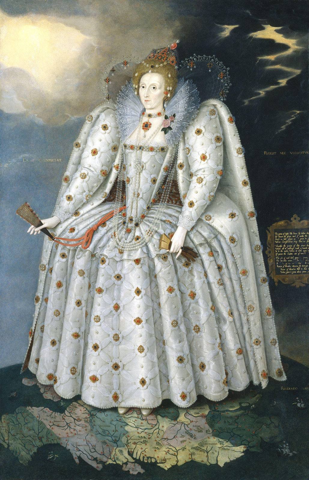 Queen Elizabeth I ('The Ditchley portrait') by Marcus Gheeraerts the Younger, 1592.