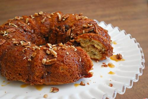 Nutty Banoffee Bundt Cake